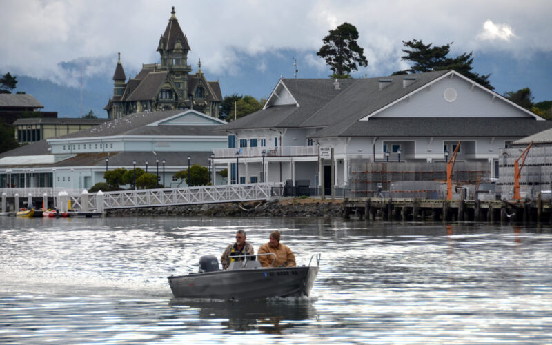 A photo of a boat on Humboldt Bay